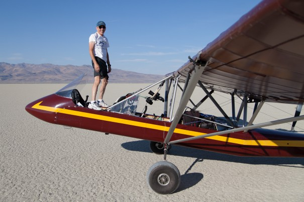 Bob Webster and his Aircam, California, U.S.A.