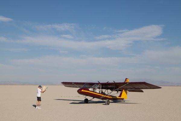 Bob navigates the aircam in Nevada.